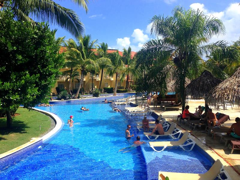 Die riesige Pool-Anlage im Dreams Punta Cana Resort & Spa