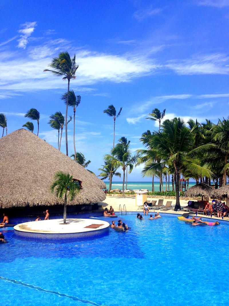 Die riesige Pool-Anlage im Dreams Punta Cana Resort & Spa