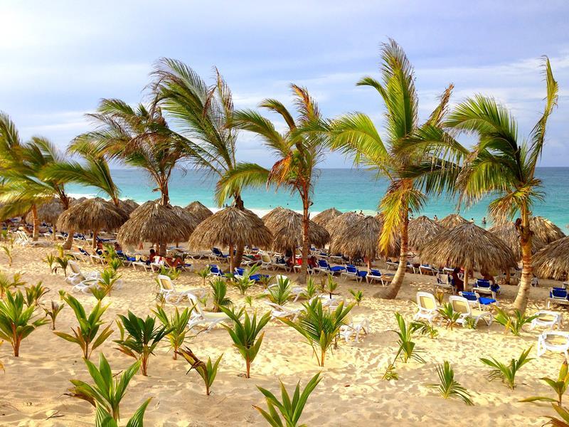Der Strandbereich im RIU Republica in Punta Cana