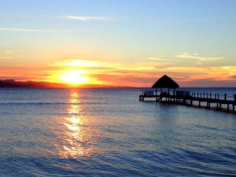 Traumhafter Sonnenuntergang in Punta Rucia in der Dominikanischen Republik