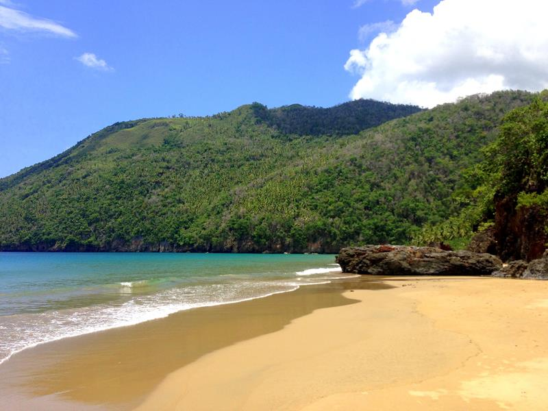 Der Playa El Valle auf der Halbinsel Samana in der Dominikanischen Republik