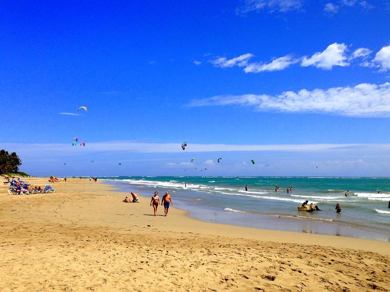Der Strand in Cabarete an der Nordküste der Dominikanischen Republik