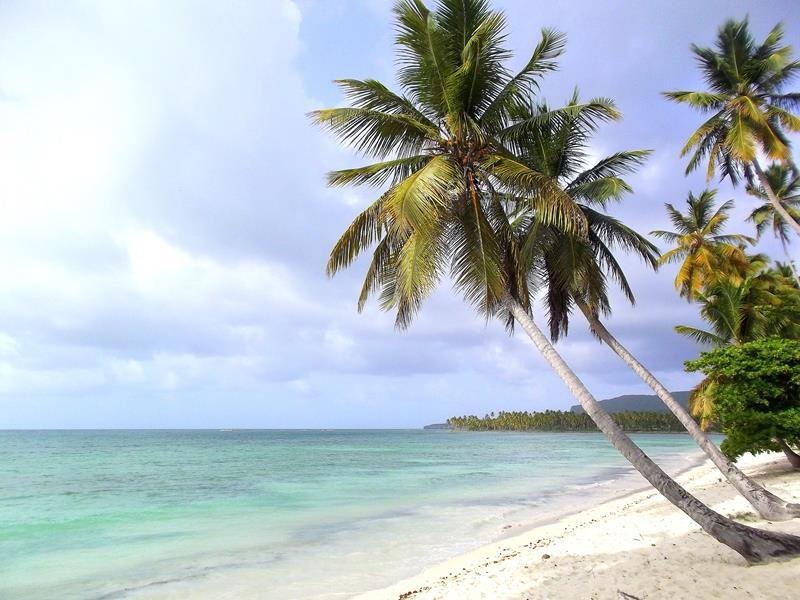 Der Playa Grande de Las Galeras im gleichnamigen Ort auf der Halbinsel Samaná