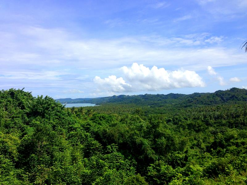 Ausblick vom Boulevard de Atlantico auf Las Terrenas und Playa Coson