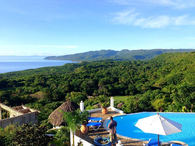 Ausblick von der Samaná Ocean View Eco-Lodge auf die tolle Samana-Halbinsel