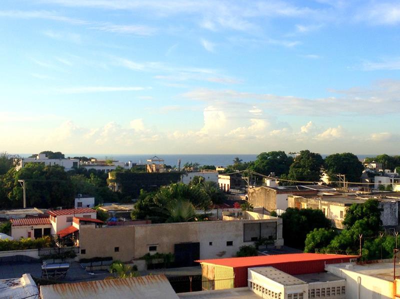 Überblick über einen Teil der Zona Colonial von oben