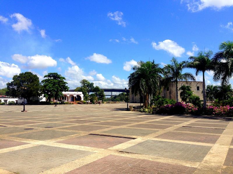 Der Plaza Espana, der prestigeträchtigste Platz der Zona Colonial