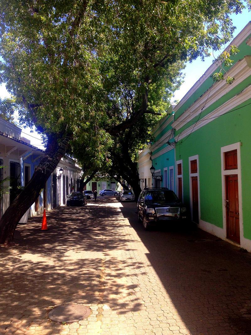 Eine der so genannten Callejones der Zona Colonial, kleine Gassen ohne Autoverkehr