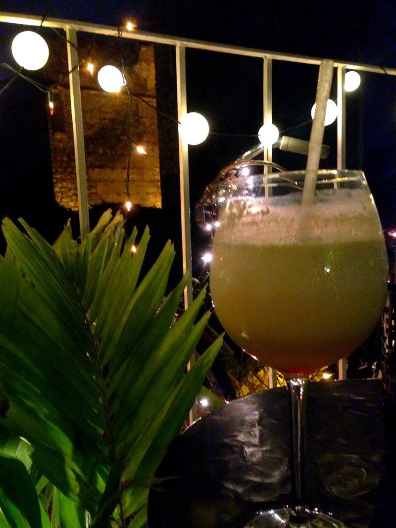 Das Tierra Plana Hostel, einer der besten Orte in der Zona Colonial für leckere und günstige Cocktails