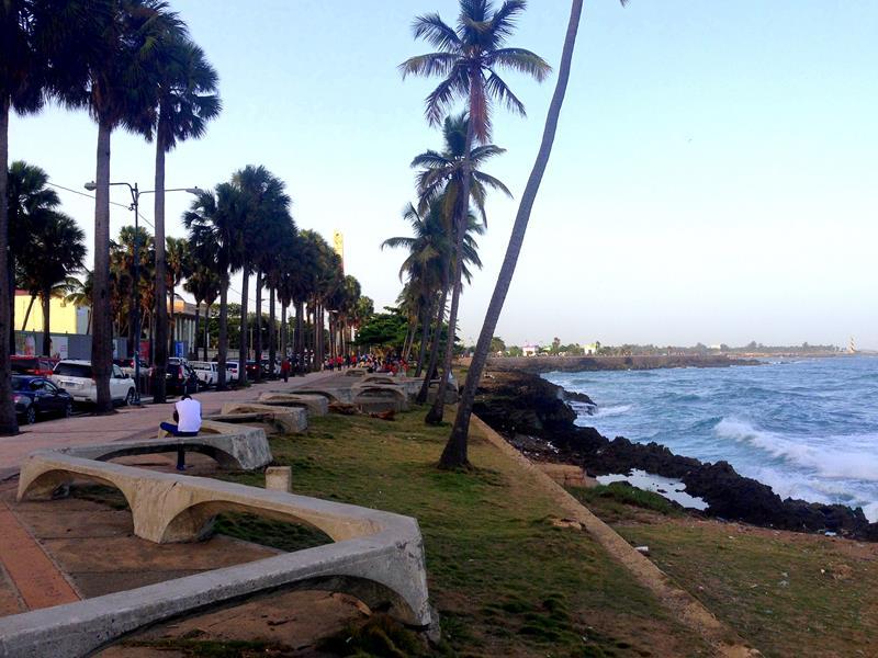 Der Malecon, die Uferpromenade von Santo Domingo