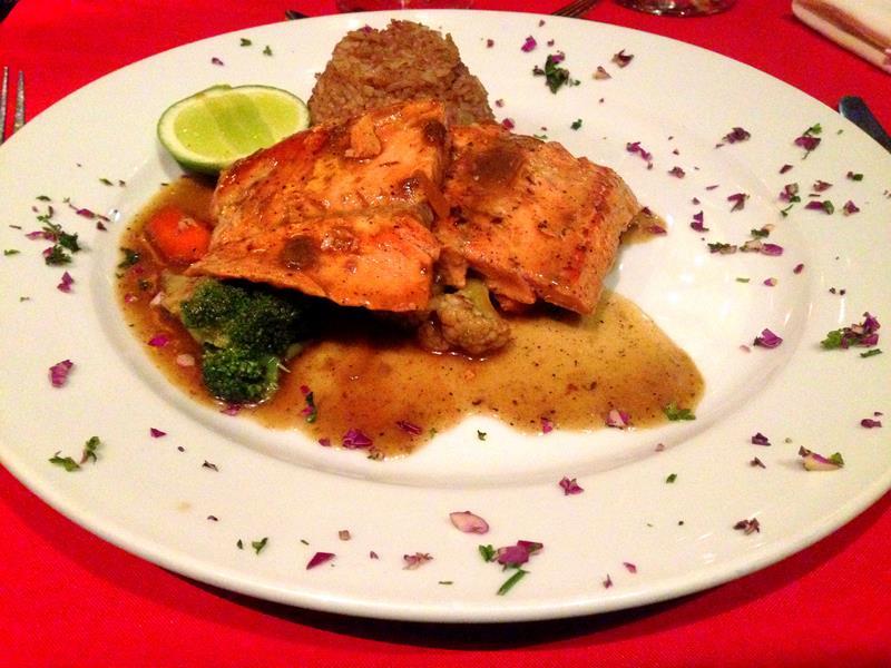 Essen im Jade Restaurant im BlueBay Villas Doradas in Puerto Plata
