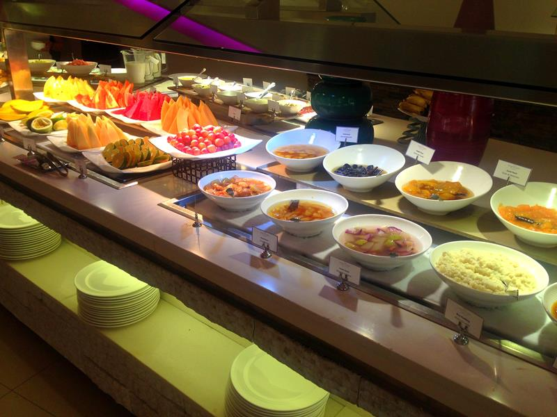 Sehr attraktive Buffets im breathless Resort Punta Cana in Uvero Alto