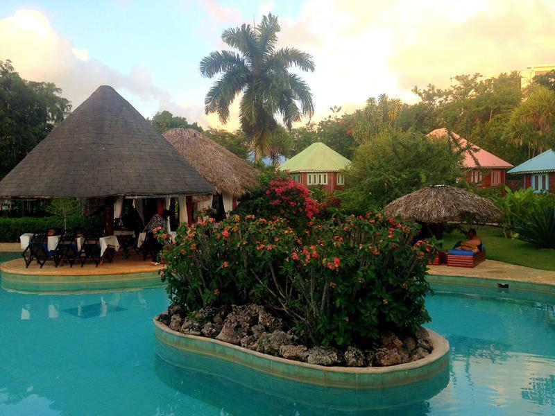 Das gemütliche Gästehaus Las Puertas del Paraiso in Rio San Juan