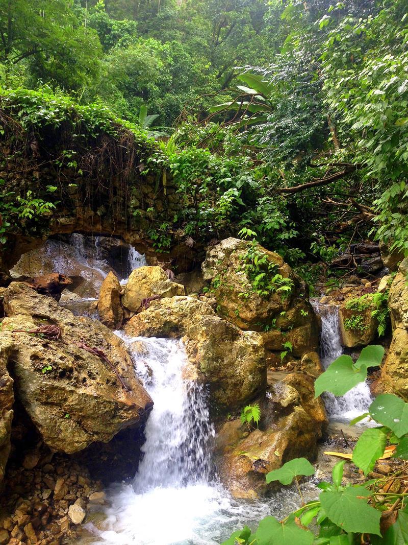 Tropische Wasserfälle in San Rafael bei Barahona im Südwesten der Dominikanischen Republik