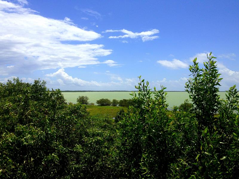 Blick auf die Laguna Oviedo im Südwesten der Dominikanischen Republik