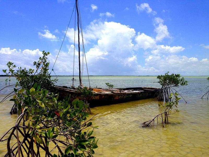 Die Laguna Oviedo im Südwesten der Dominikanischen Republik