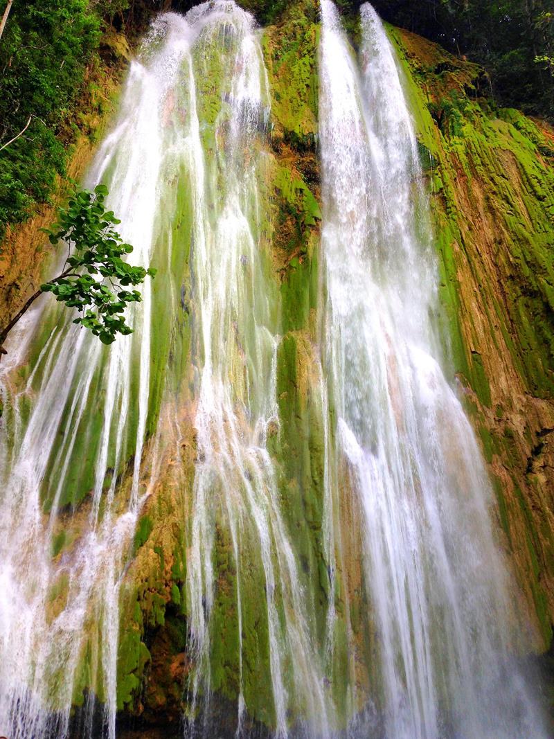 Der pittoreske Salto El Limon, für mich der schönste Wasserfall der Dominikanischen Republik