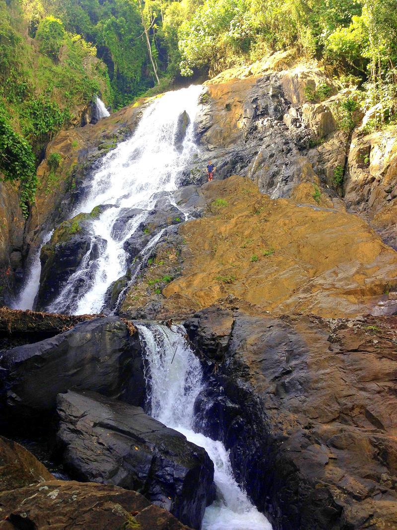 Der Wasserfall Cascada Blanca in Pedro Sanchez in der Dominikanischen Republik