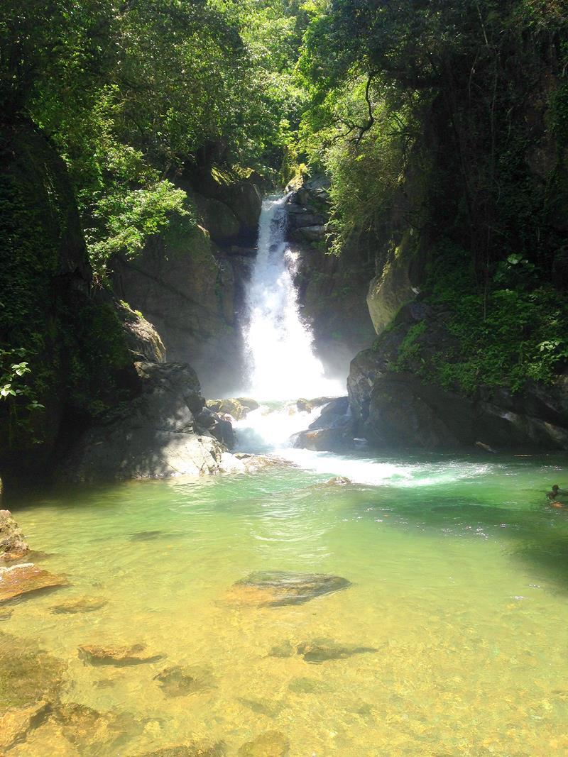 Der Wasserfall Salto de la Jima in der Nähe von Bonao, Dominikanische Republik