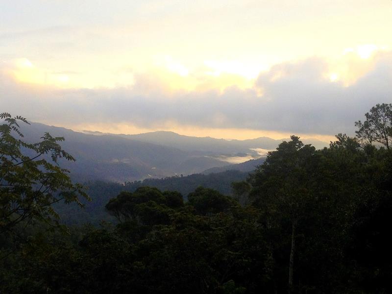 Einer der wenigen Ausblicke auf dem Weg zum Pico Duarte