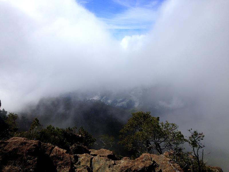 Aussicht vom Pico Duarte, das Dach der Karibik und höchster Berg der Dominikanischen Republik