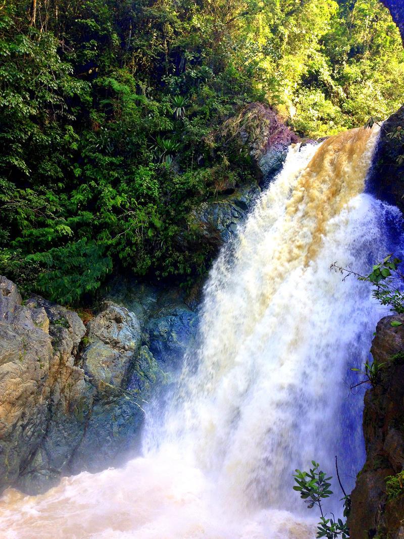 Der Salto Baiguate, ein Wasserfall in der Nähe von Jarabacoa