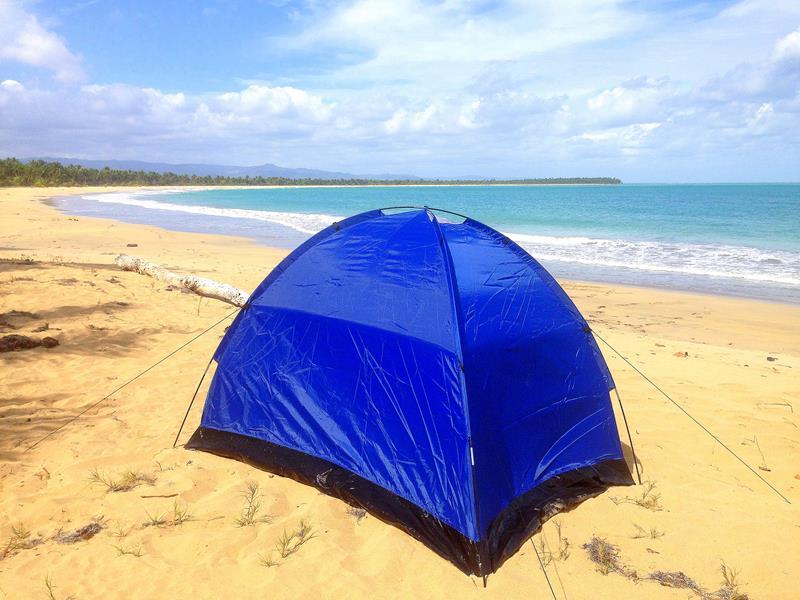 Camping am traumhaften Playa Esmeralda zwischen Punta Cana und Miches