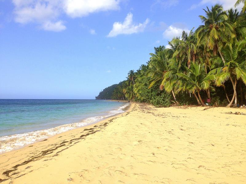Der versteckte Playa Jackson in Las Terrenas auf der Samana-Halbinsel