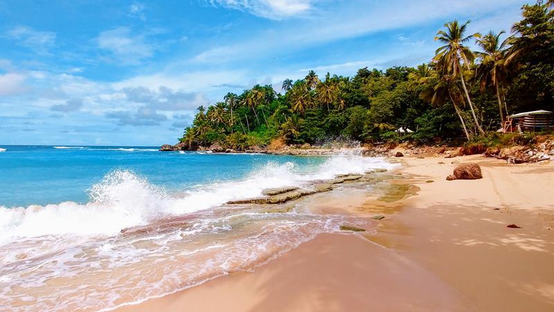 Der Playa Grande an der Nordküste der Dominikanischen Republik