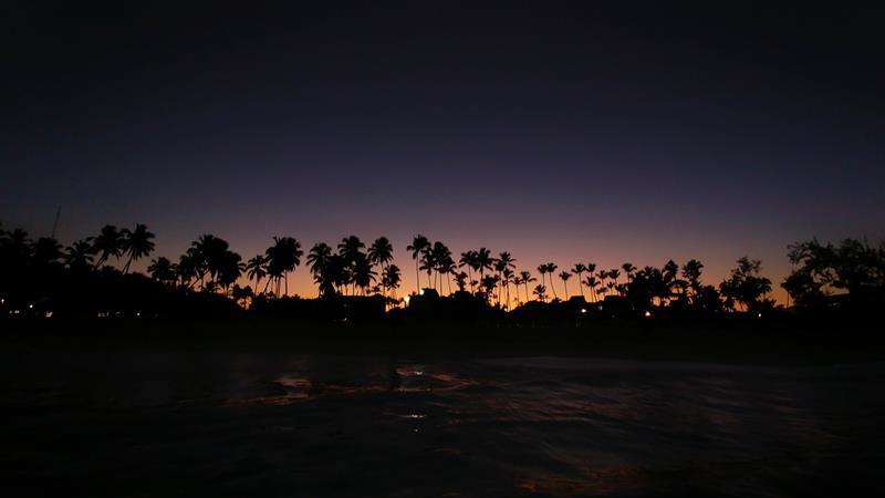Sonnenuntergang in Punta Cana, wie hier am Bavaro Beach