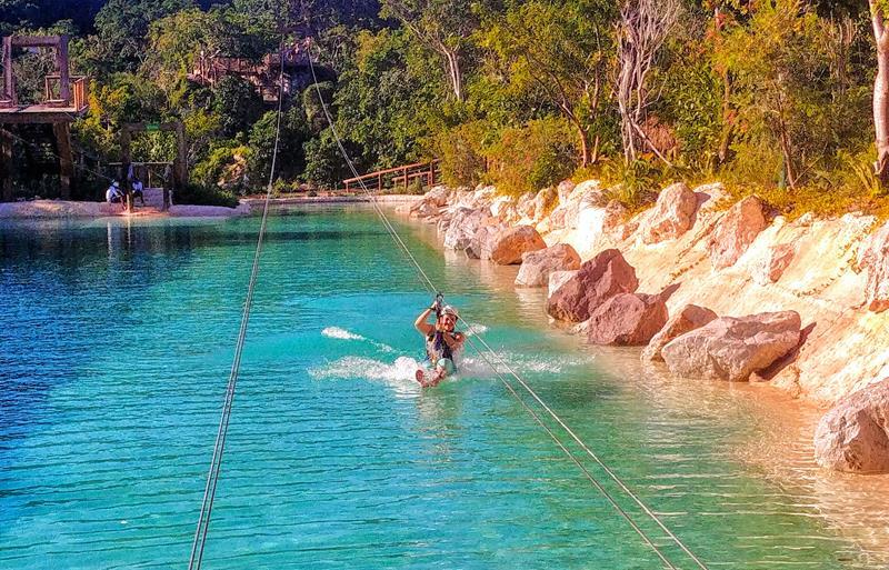 Ziplining im Scape Park Cap Cana in Punta Cana