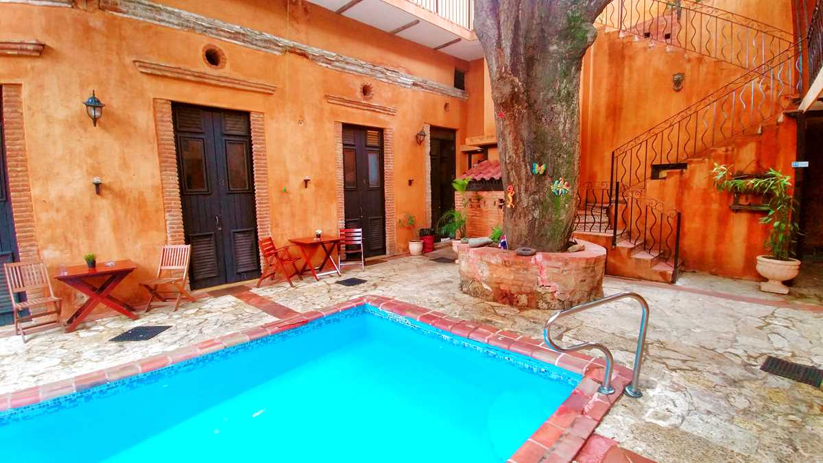 Die Unterkunft Dona Elvira Boutique-Hotel in der Kolonialzone von Santo Domingo