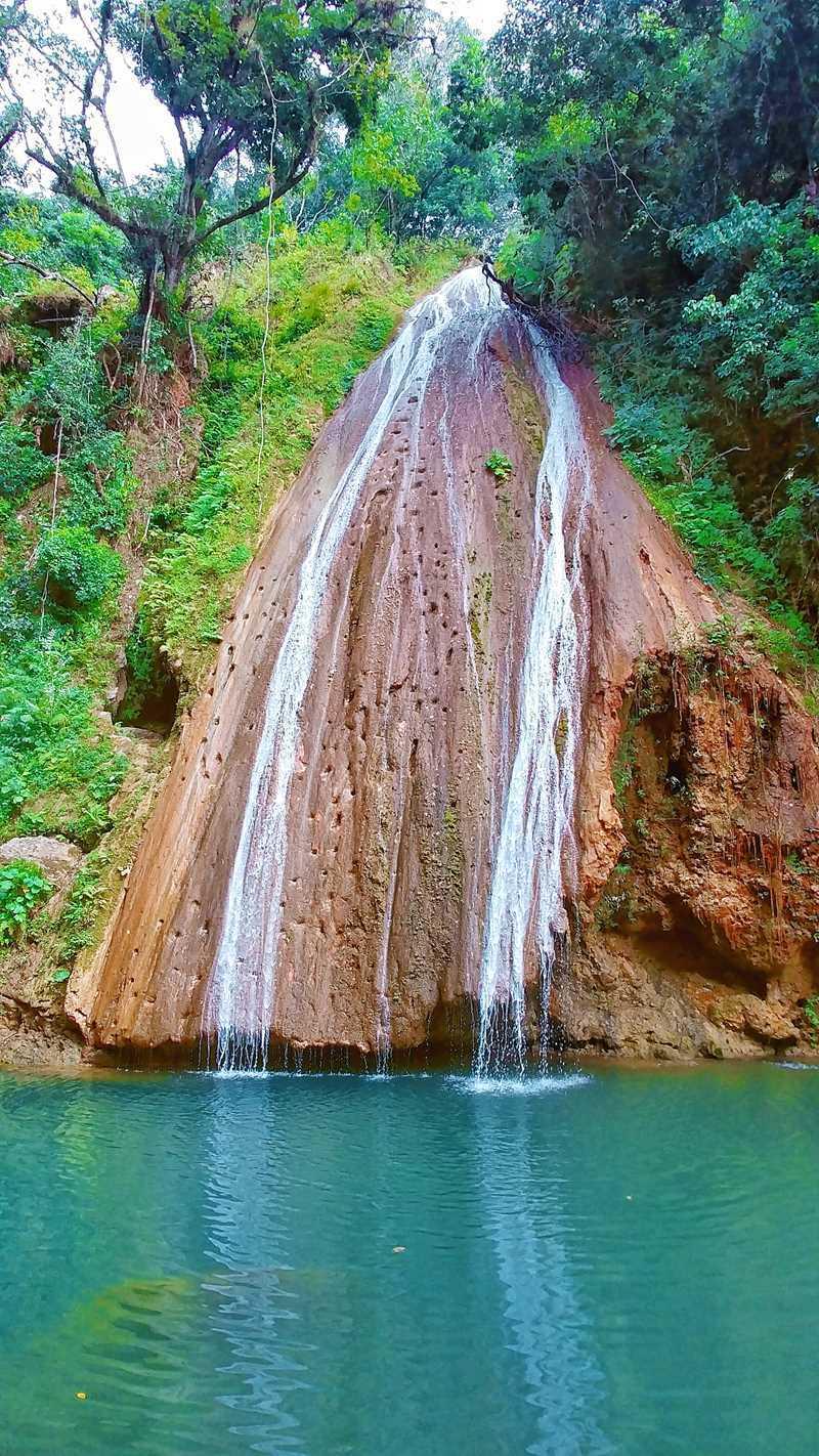 Der Wasserfall Salto Arroyo de los Cocos auf der Samaná-Halbinsel