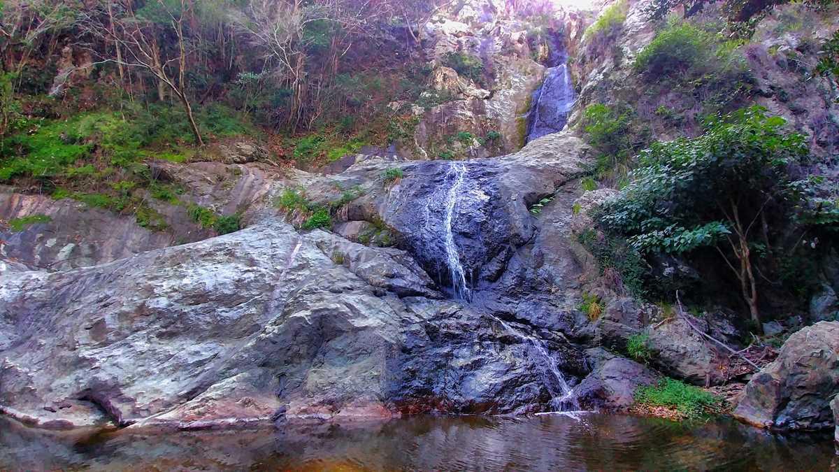 Der Wasserfall Salto Anacaona in der Nähe von San José de las Matas