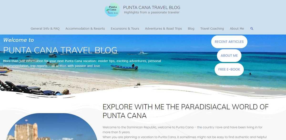 Mein neues Projekt Punta Cana Travel Blog
