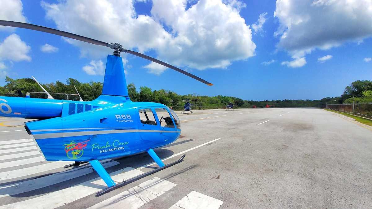 Helikopter Touren gehören zu den besonderen Ausflügen in Punta Cana