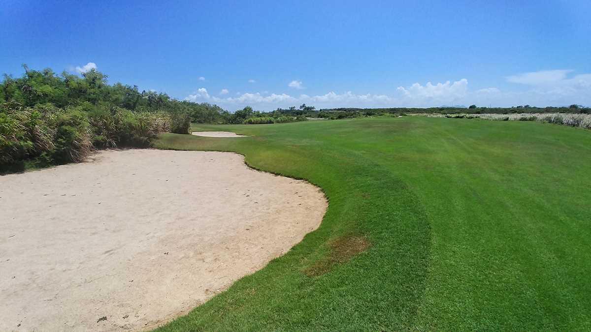 Ein verlassener Golfplatz in Punta Cana