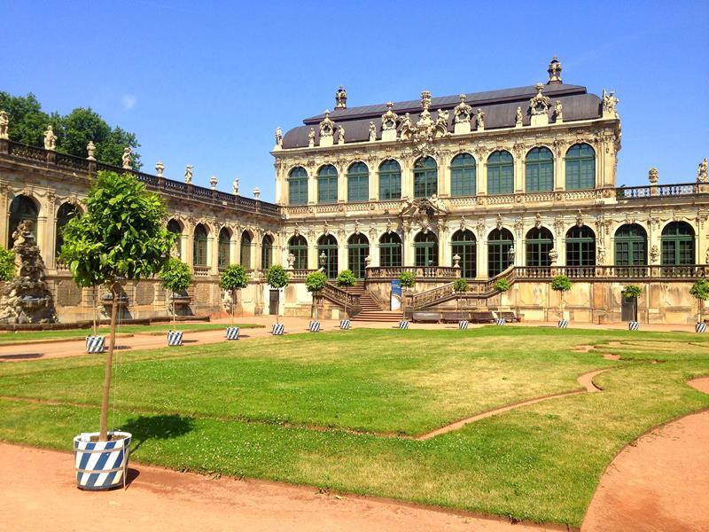Der Zwinger, eine der wichtigsten Sehenswürdigkeiten in Dresden