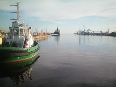 Der Hafen von Dublin