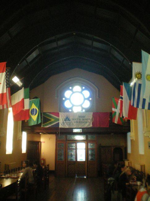Der Frühstücksraum im International Youth Hostel in Dublin