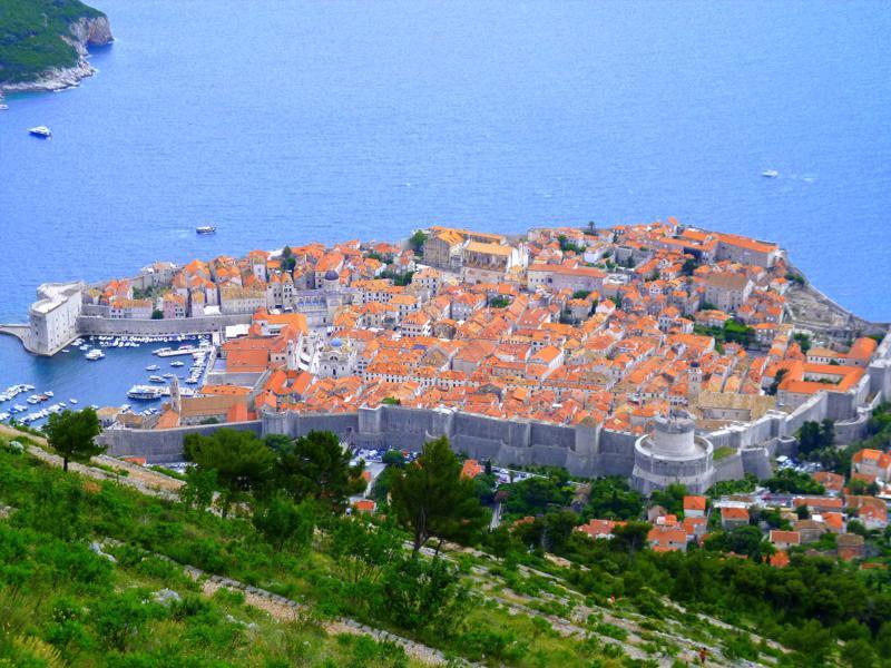 Die historische Altstadt von Dubrovnik, zugleich Unesco-Weltkulturerbe