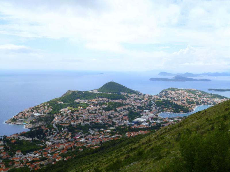 Blick vom Hausberg Srd auf Dubrovnik