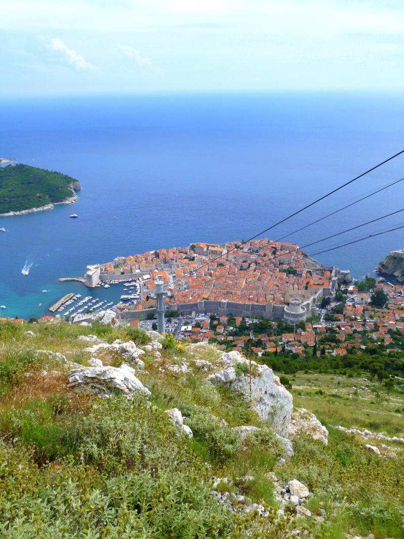 Blick vom Hausberg Srd auf die Altstadt von Dubrovnik