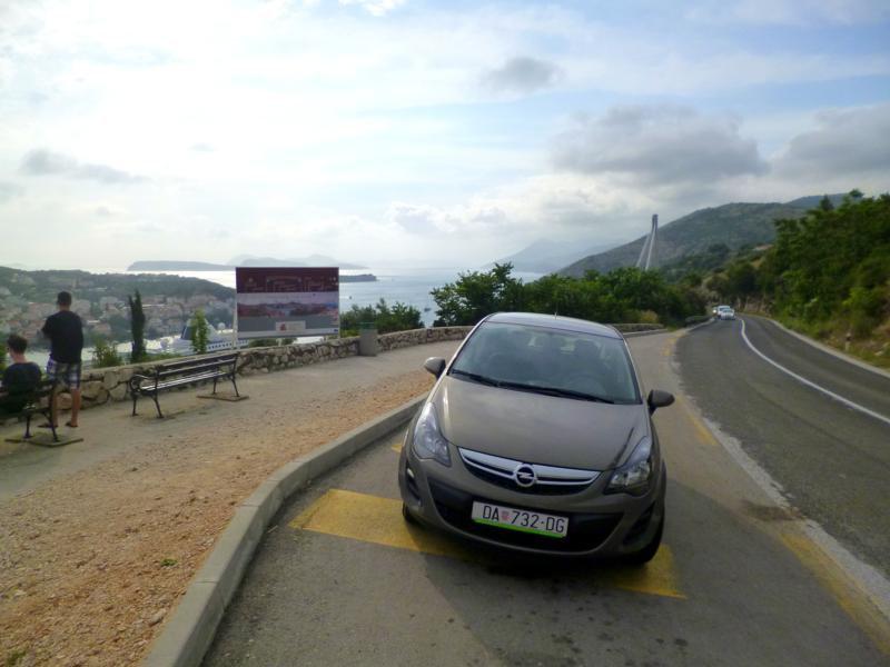 Unser Mietwagen in Kroatien