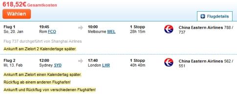 Wie günstig sind die Zubringer? Lohnt sich der Flug nach Australien überhaupt?
