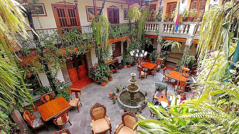Das zentral gelegene San Francisco de Quito Hotel in Ecuadors Hauptstadt