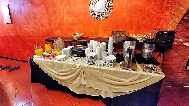 Das eher magere Frühstück im San Francisco de Quito Hotel