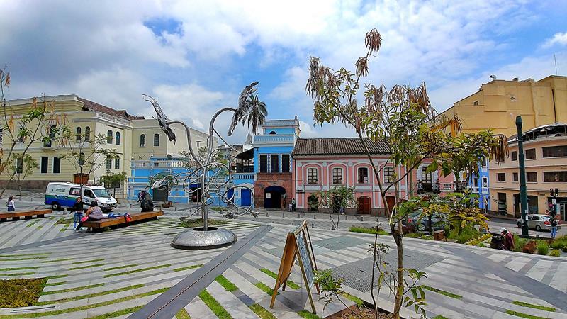 Die Innenstadt von Quito, hier mit dem Plaza San Agustin