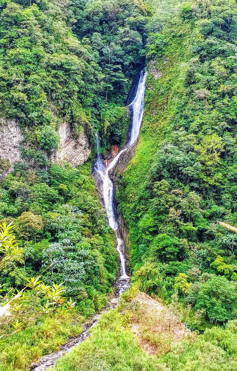 Die Ruta de las Cascadas, eine der Haupt-Attraktionen in Banos, Ecuador