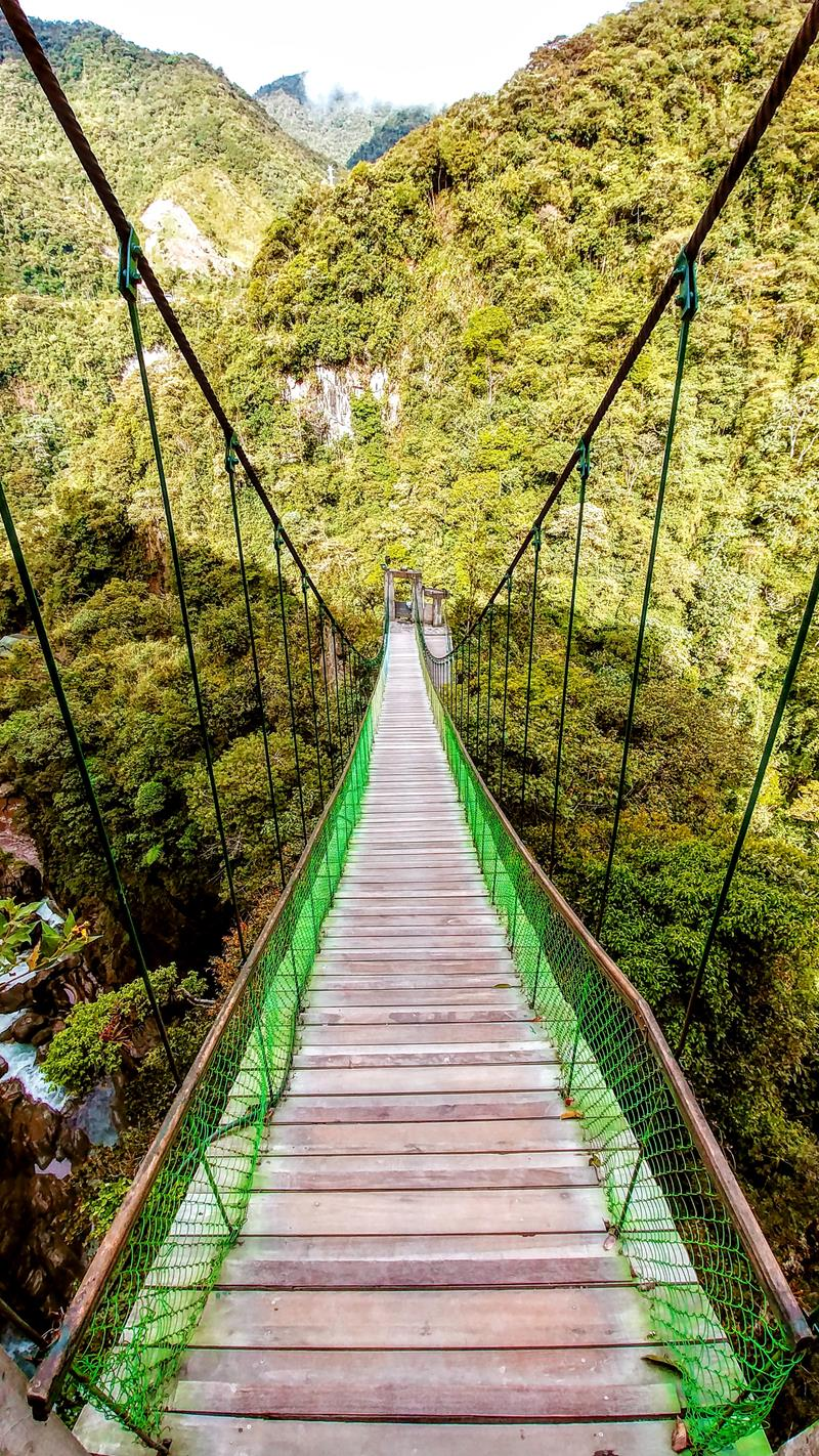 Der Pailon del Diablo, eine der spektakulärsten Attraktionen in Ecuador bei Banos